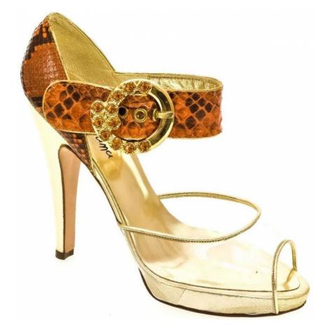 John-C Dámske oranžové sandále HELY Oranžová