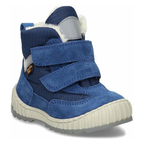 Modrá chlapecká zimní obuv s kožíškem Froddo