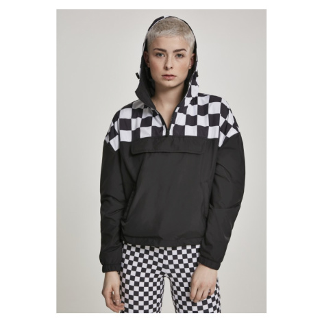 Ladies Short Oversize Check Pull Over Jacket Urban Classics