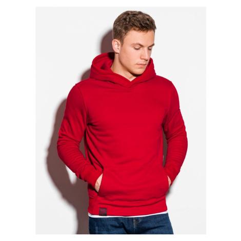 Ombre Clothing Stylová mikina v červené barvě B1079