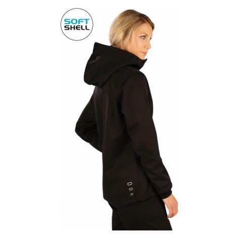LITEX Bunda dámská softshellová s kapucí 7A208901 černá