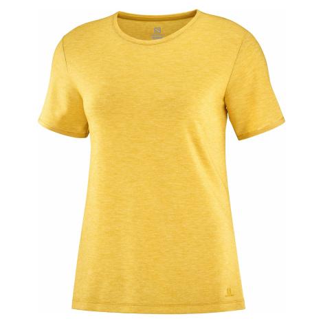 Tričko Salomon Esential SS Tee W - žlutá