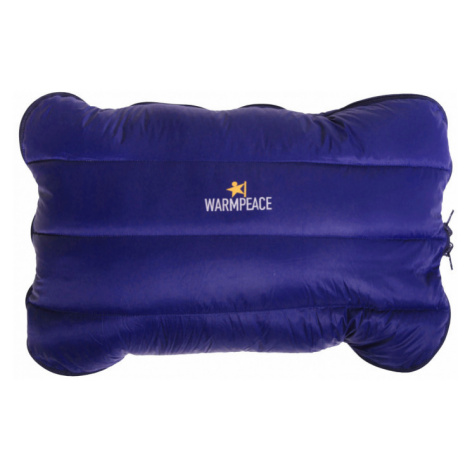 Péřový polštářek Warmpeace Down Pillow Zippered blue shadow