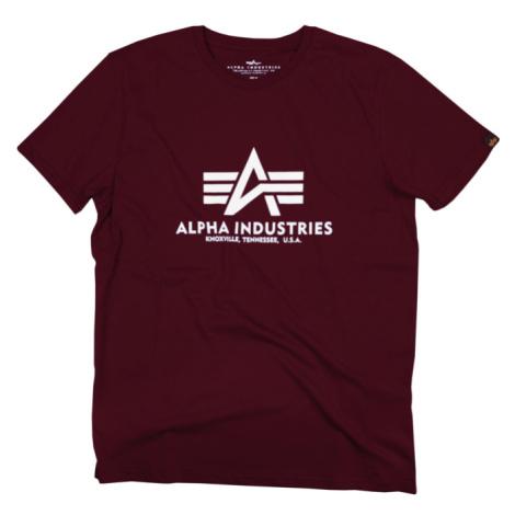 Alpha Industries Tričko Basic T-Shirt deep maroon
