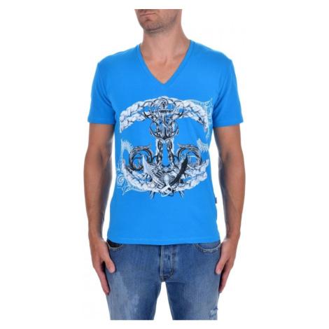 JUST CAVALLI Anchor Blue tričko
