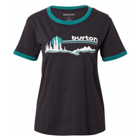 BURTON Funkční tričko 'CARLOW' černá / bílá / šedá / tmavě zelená