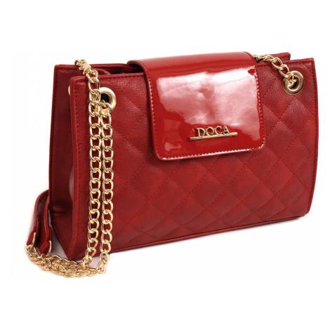 Dámská crossbody kabelka Doca 14155 - červená