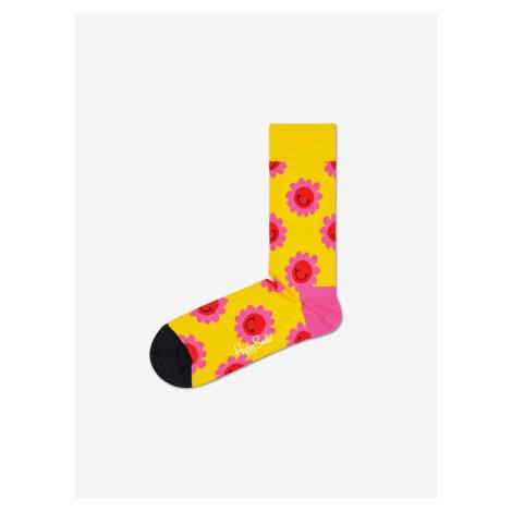 Smile Flower Ponožky Happy Socks Žlutá