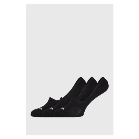 3 PACK černých ponožek FILA Ghost