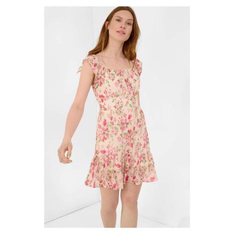 Květované šaty ze šifonu Orsay