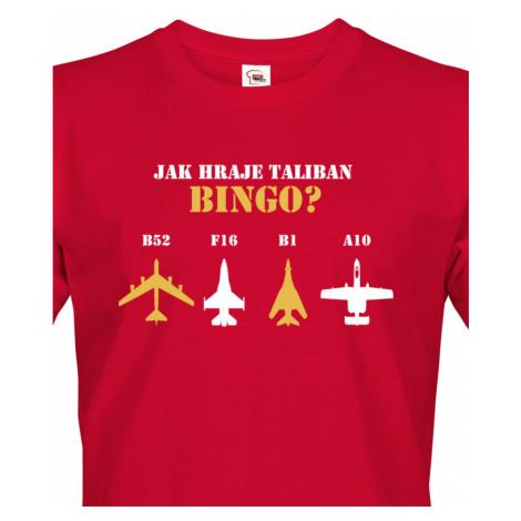 Army triko s B 52 - How Demokracy Works - tričko pro military nadšence BezvaTriko