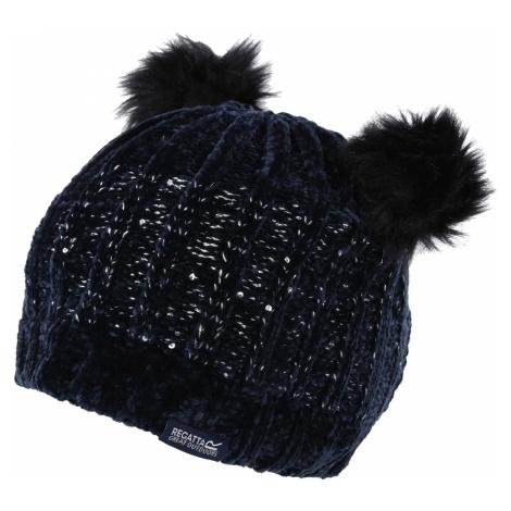 Dětská zimní čepice Regatta HEDY LUX II tmavě modrá