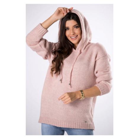 Světle růžový pulovr s kapucí Luella II Vittoria Ventini