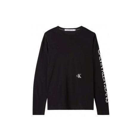 Calvin Klein Calvin Klein pánské černé tričko s dlouhým rukávem CAR PHOTOPRINT LS TEE
