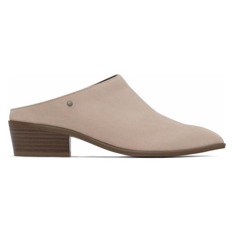 Béžové dámské pantofle na podpatku Matt & Nat Kenni