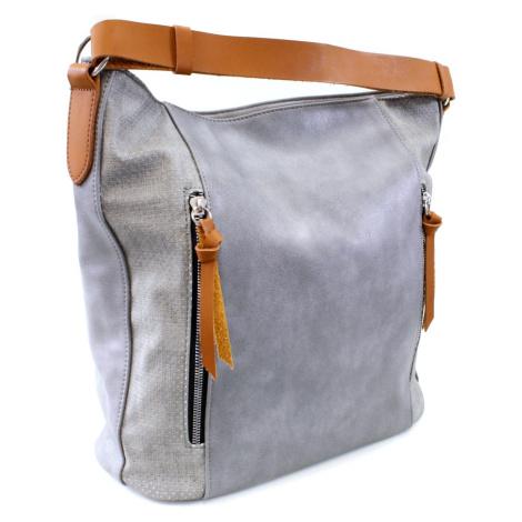 Šedá dámská prostorná kabelka Atif Tapple