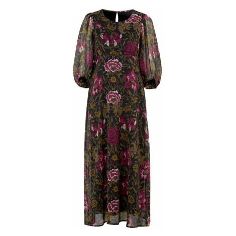 Květované šifonové šaty s nabíranými rukávy Cellbes