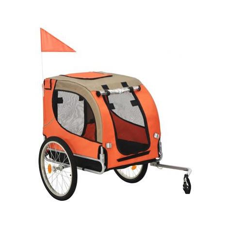Shumee Vozík za kolo pro psa oranžovo-hnědý