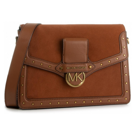 Hnědá kožená kabelka - MICHAEL KORS | Jessie
