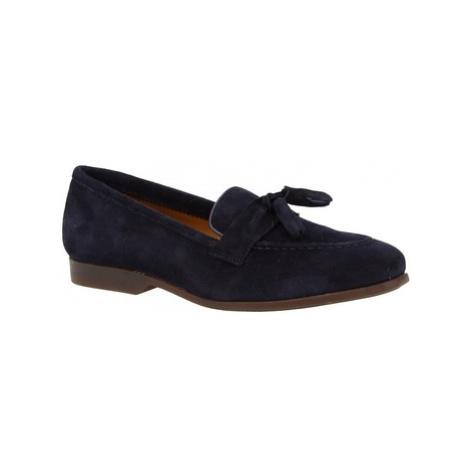 Leonardo Shoes TOR02 VELUR NAVY Modrá