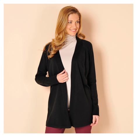 Blancheporte Dlouhý svetr s dlouhými rukávy černá