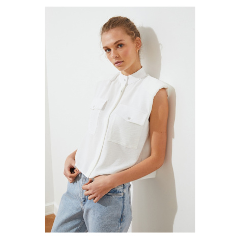 Trendyol Ecru Double Pocket Shirt