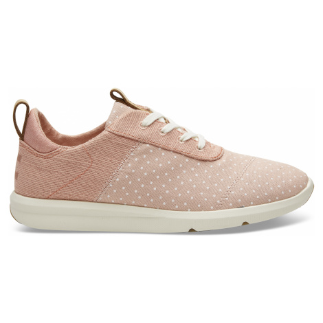 Coral Pink Printed Dots/Heritage Canvas Women Cabrillo Sneak Toms
