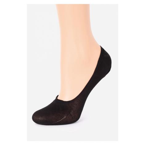 Černé balerínkové ponožky Cotton Anti-Slip Marilyn