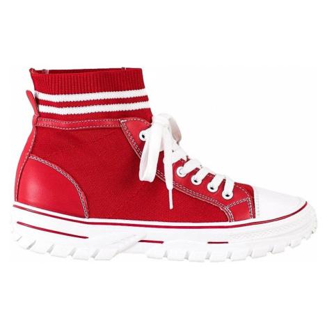 červené módní nazouvací tenisky SHELOVET