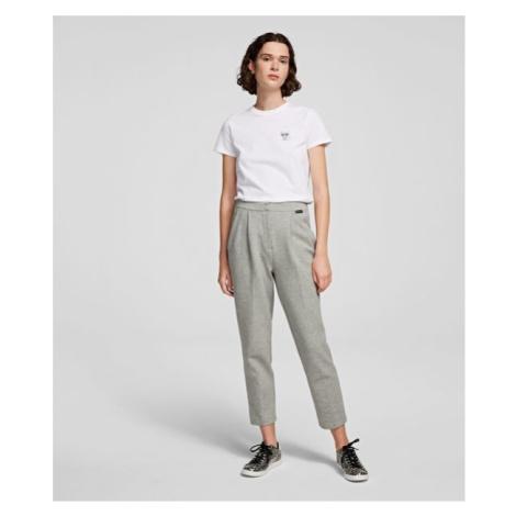 Kalhoty Karl Lagerfeld Tailored Jersey Trousers - Šedá