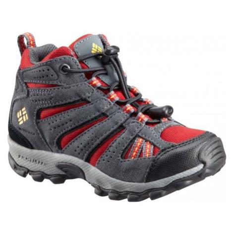 Columbia CHILDREN NORTH PLAINS MID WP červená - Dětská zimní outdoorová obuv