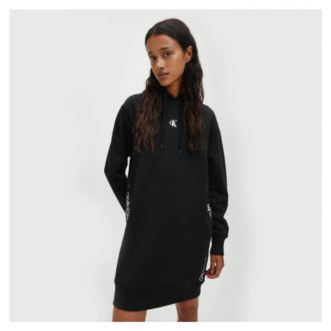 Calvin Klein dámské černé mikinové šaty