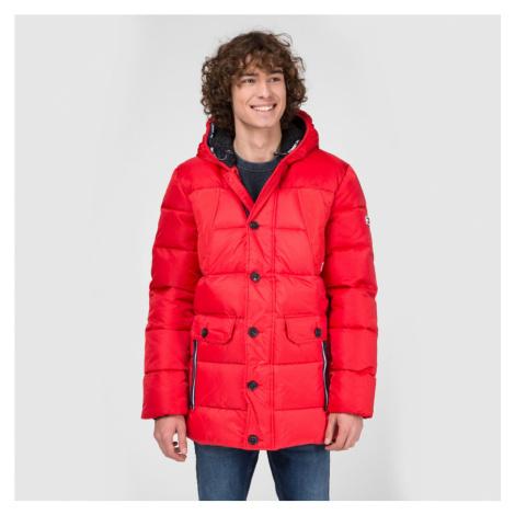 Tommy Jeans pánská červená zimní bunda Fabric Tommy Hilfiger