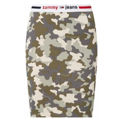 Tommy Hilfiger Tommy Jeans dámská vojenská sukně CAMO BODYCON SKIRT