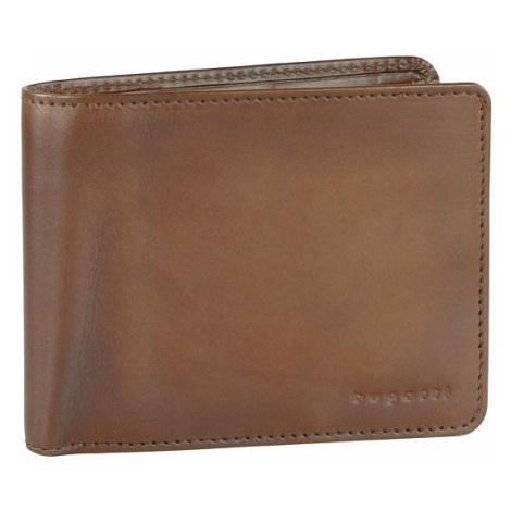 Bugatti Pánská kožená peněženka Domus RFID Cognac