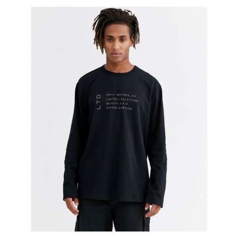 Topman LTD long sleeve t-shirt in black