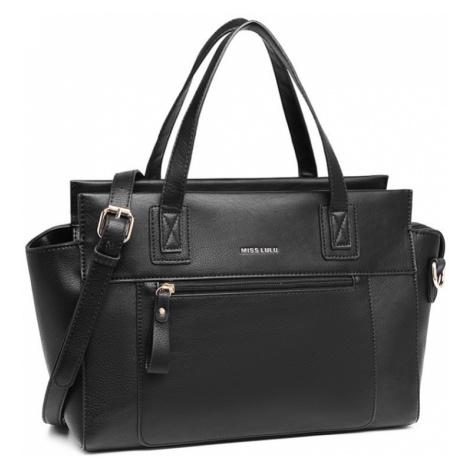 Černá klasická dámská kufříková kabelka Berangaria Lulu Bags