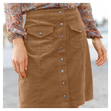 Blancheporte Manšestrová sukně béžová