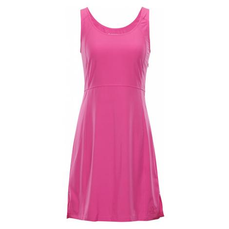 ALPINE PRO ELANDA 3 Dámské šaty LSKN150415 Fuchsiová růžová