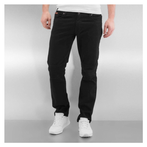 Rocawear / Straight Fit Jeans Quilted in black