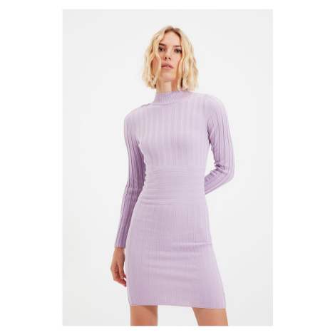 Trendyol Lilac Roving Knitted Sweater Dress