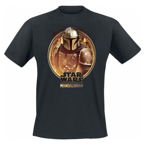 Star Wars The Mandalorian Tričko černá