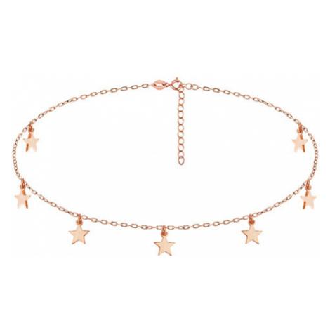 Klenoty Amber Stříbrný náhrdelník choker - hvězdy