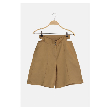 Trendyol Camel Buttoned Shorts & Bermuda