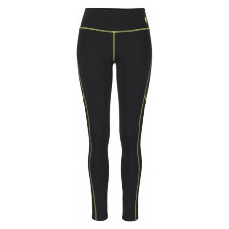 LASCANA ACTIVE Sportovní kalhoty černá / svítivě žlutá
