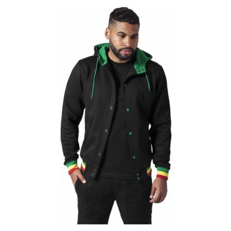 Urban Classics Hooded College Sweatjacket blk/rasta