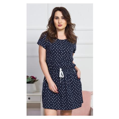 Dámské domácí šaty s krátkým rukávem Hana, 4XL, světle šedá Vienetta Secret