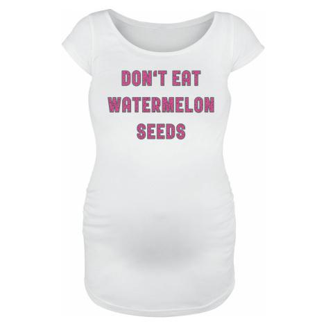 Móda pro těhotné Don`t Eat Watermelon Seeds dívcí tricko bílá
