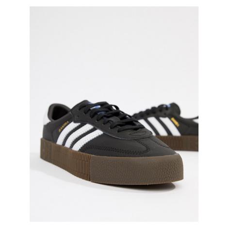 Adidas Originals black and white gum sole Samba Rose trainers