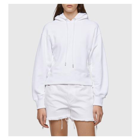 Mikina Diesel F-Lym-Hood-C.C Sweat-Shirt - Bílá